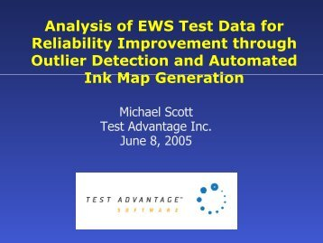 Analysis of EWS Test Data for Reliability Improvement through ...