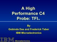 A High Performance C4 Probe - Semiconductor Wafer Test Workshop