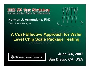 A Cost-Effective Approach for Wafer Level Chip Scale Package ...