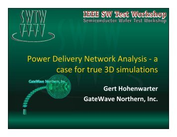 Power Delivery Network Analysis