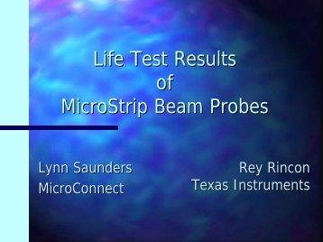 Microstrip Beam Technology Update