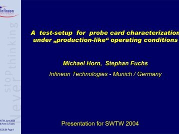 "A Test Setup for Probe Card Characterization under ""Production-like"""