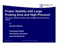 Prober Stability with Large Probing Area and High Pincount