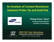 An Analysis of Contact Resistance between Probe Tip and Gold Pad