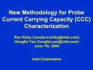 New Methodology for Probe Current Carrying Capacity (CCC ...
