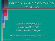 probe-to-pad positioning process - Semiconductor Wafer Test ...