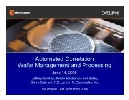 Automated Correlation Wafer Management and Processing