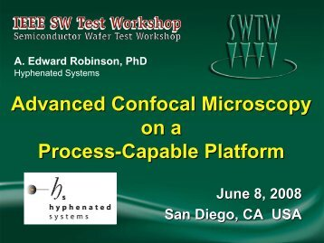 Advanced Confocal Microscopy on a Process Capable Platform