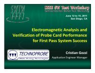 High Frequency Probe - Semiconductor Wafer Test Workshop