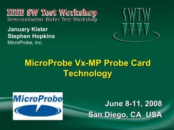 Vx-MP Technology Key Features - Semiconductor Wafer Test ...