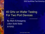 40 GHz on Wafer Testing For Two Port Devices - Semiconductor ...