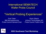 Vertical Probing Experiences - Semiconductor Wafer Test Workshop