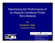 Maximizing the Performance of an Atypical Cantilever Probe Wire ...
