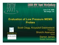 Evaluation of Low Pressure MEMS Probes - Semiconductor Wafer ...