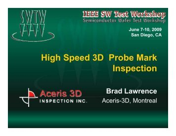 High Speed 3D Probe Mark Inspection - Semiconductor Wafer Test ...