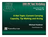 Current Carrying Capacity, Tip Melting and Arcing - Semiconductor ...