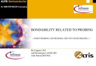 Bondability related to probing - Semiconductor Wafer Test Workshop