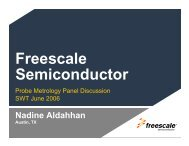 Probe Metrology Panel Discussion - Semiconductor Wafer Test ...