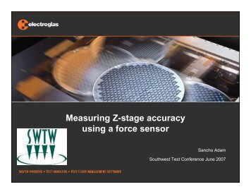 Measuring Z-stage accuracy using a force sensor