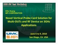 Novel Vertical Probe Card Solution for Multi-DUTs and RF Device ...