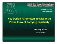 Key Design Parameters to Maximize Probe Current Carrying ...