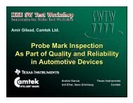 Probe Mark Inspection As Part of Quality and Reliability in ...