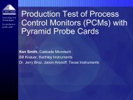 with Pyramid Probe Cards - Semiconductor Wafer Test Workshop