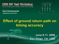 Effect of Ground Return Path on Timing Accuracy