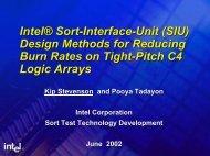 Intel® Sort-Interface-Unit (SIU) Design Methods for Reducing Burn ...