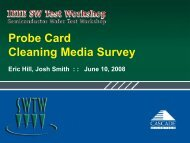 Probe Card Cleaning Media Survey - Semiconductor Wafer Test ...