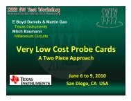 Very Low Cost Probe Cards - Semiconductor Wafer Test Workshop