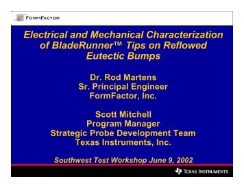 Electrical and Mechanical Characterization of MicroSpring ...
