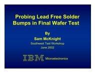 Probing Lead Free Solder Bumps in Final Wafer Test