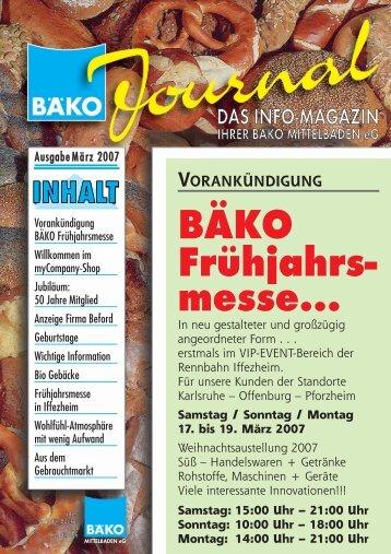 Messe - BÄKO Mittelbaden eG