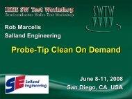 Probe-tip Clean on Demand - Semiconductor Wafer Test Workshop