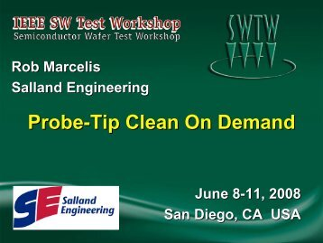 Probe-tip Clean on Demand - Semiconductor Wafer Test Workshop