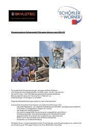 Einweisungskurs Schwerpunkt PSA gegen Absturz ... - SWWEB.de