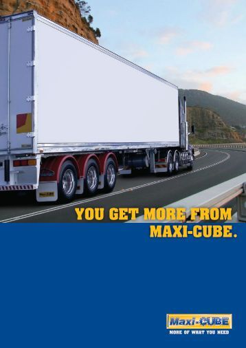 Maxi-CUBE Brochure - SX Trailers