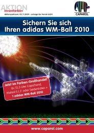 Ran an den adidas WM-Ball 2010 Jetzt im Farben ... - Farbtex