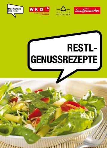 """Broschüre """"Restl-Genussrezepte"""" - G'scheit Feiern"""