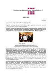 "Infobrief Nr. 65 Juni 2013 Leev ""Fründe vun der Akademie för uns ..."