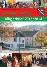 Bürgerbrief 2013 Teil 1 Seite 1-8.cdr - Loiching