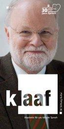 03|13 Akademie för uns kölsche Sproch SK Stiftung Kultur