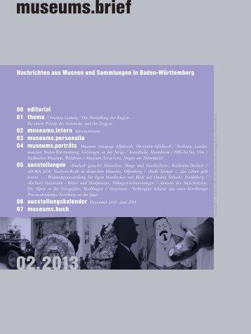 museums.brief 02.2013 - Landesstelle für Museumsbetreuung ...