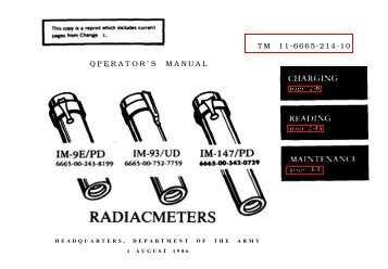TM 3-4240-313-10 OPERATOR'S MANUAL SIMPLIFIED