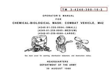 tm 3-4240-300-10-2 chemical-biological mask: combat vehicle, m42