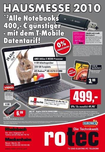 *2Alle Notebooks 400,- € günstiger - mit dem T ... - Rotec Online