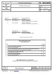 TL 8415-0238 - Bundesamt für Wehrtechnik und Beschaffung