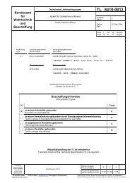 TL 8410-0012 - Bundesamt für Wehrtechnik und Beschaffung