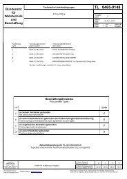 TL 8465-0148 - Bundesamt für Wehrtechnik und Beschaffung